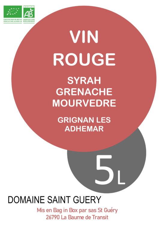Bib-5-litres-domaine-saint-guery-grignan-les-adhemar-épicé-fruité-grenache-syrah-mourvedre-1